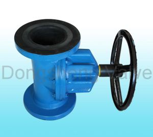 Cast Iron Flanged Ends Straight Through Diaphragm Valve pictures & photos
