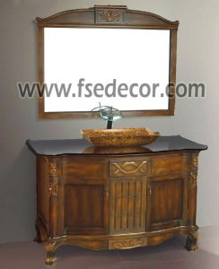 China Antique Free Standing Wooden Bathroom Vanity Cabinet Fse Vt 10157 China Bathroom