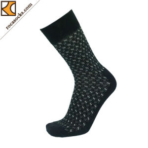 Men′s Merino Wool Navy DOT Dress Socks (163009SK) pictures & photos