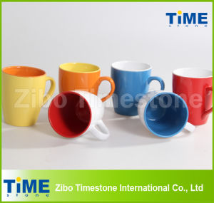 Stoneware Color Glazed Coffee Mugs pictures & photos