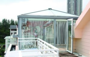 New Laminated Glass Roof Sunroom with Factory Price (pH-8113) pictures & photos