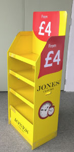 Clocks Cardboard Display with Euro Standard Size 60cmwx40cmdx160CMH Foldable Display Stand pictures & photos