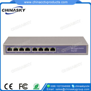 8 Port Poe Network Gigabit Switch with External Power (POE0710-3) pictures & photos