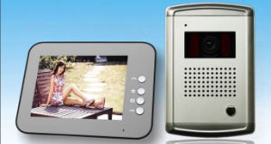 8-Inch Hand-Free Wired Video Doorphone with Intercom, Monitor and Door Release Functions