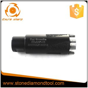 "5/8""-11 Thread Stone Hole Vacuum Brazed Diamond Core Drill Bits pictures & photos"