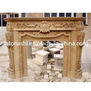 Cheap Price Design Marble Stone Carving Fireplace with Mantel pictures & photos
