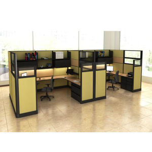 New Style Office Table with Partition Screen (OMNI-AO2-02)