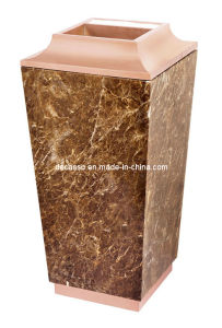 Rose Gold Sand Line Conical Trash Can (DK55) pictures & photos