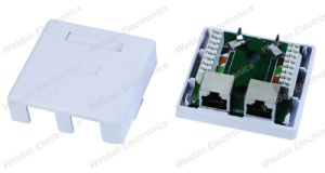 Cat5e FTP Shielded Surface Mount Box, Dual Port pictures & photos