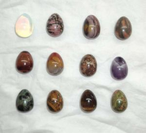 Semi Precious Stone Decoration, Egg Shape, Stone Ornament (ESB01611) pictures & photos