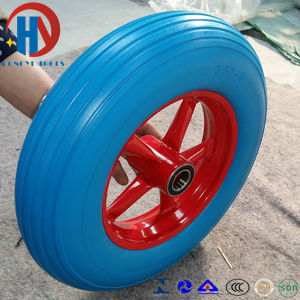 China European Standard Solid Wheel Barrow PU Foam Wheels pictures & photos