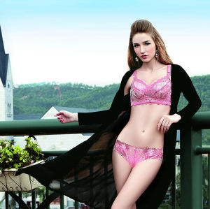Padded Bra with Lace/Underwear and Briefs Set (TSAW8347NA)