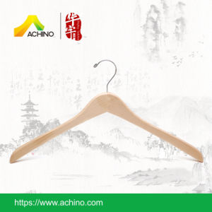Wooden Clothes Hangers with Hook (WCJ100-Natural) pictures & photos
