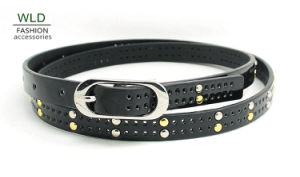 New Style Oval Buckle Stud PU Belt Ky5996 pictures & photos