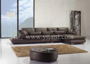 Corner Leather Sofa (T76)