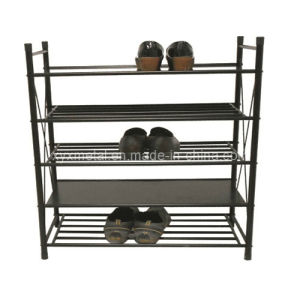 5 Tiers Heavy Duty Shoes Steel Stand Cabinet Metal Shoe Rack pictures & photos
