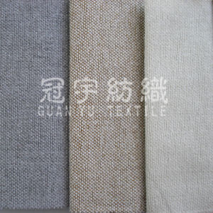 Polyester Linen Curtain Fabric for Home Textile pictures & photos