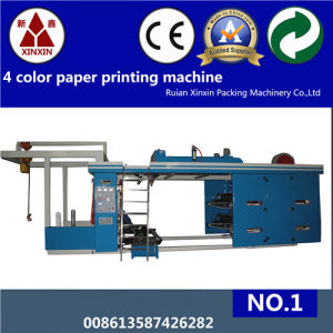 High Speed 4 Color Flexo Printing Machine Ce Certificate pictures & photos