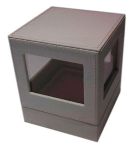 Square High-Class Perfume Box with PVC Window (YY-B0319) pictures & photos