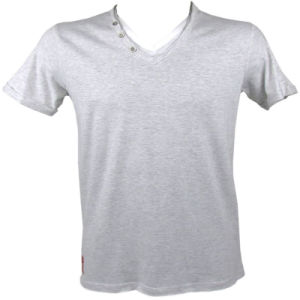 New Style Men′s Plain 100% Cotton 50% Cotton 25% Polyester 25% Rayon T-Shirt pictures & photos