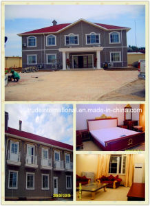 Prefabricated/Prefab House/Building with PVC Cladding Sheet Decoration pictures & photos