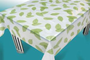 PVC Non-Woven Flower Design Beaded Tablecloths, Latest Design Printing Beaded Tablecloths