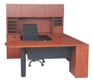 U Shape Workstation / Laminat Casegood / Laminate Furniture