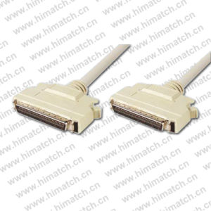 White Color SCSI Mdr 68 Pin Cable