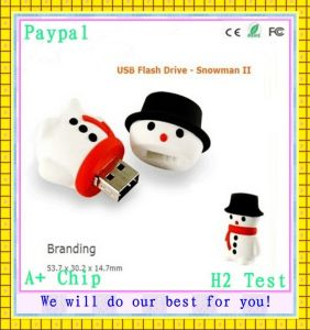 Free Sample Snow Man USB Flash Drive (GC-S493) pictures & photos