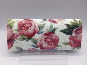 Evening Bag in White with Printed Flower Design pictures & photos