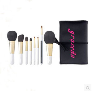 8 PCS Cosmetic Makeup Brush with White Wooden Handle (YMF439)