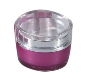 Lotus Leaf Shape Cosmetic Empty Acrylic Cream Jar pictures & photos