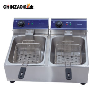 20L Dual Tank Electric Countertop Fryer with Swith and Timer pictures & photos