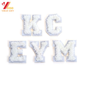Hot Selling Baseball Caps Chenille Patch Garment Flock Chenille Label Patch pictures & photos