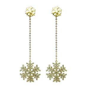 Snow Design Christmas Gift 925 Silver Jewelry Fashion Earrings (E7018) pictures & photos