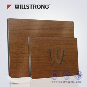 PVDF Wooden Texture Aluminum Comsposite Wall Board pictures & photos
