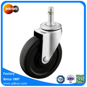 75kg Load Capacity 4inch Grip Ring Stem Solid Rubber Caster Wheels pictures & photos