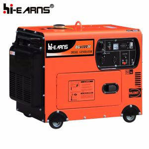 Air-Cooled Silent Type Diesel Generator Set Red Color (DG5500SE) pictures & photos