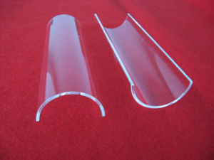 Hot Selling Half Round Quartz Glass Plate pictures & photos