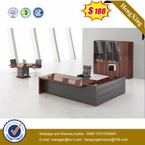 Dark Gry Modesty Panel Oak Desk Top Office Table (HX-G0195) pictures & photos