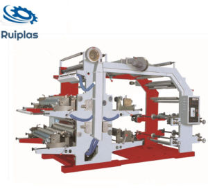 Four Color Plastic Flexographic Printing Press with Cheap Price pictures & photos