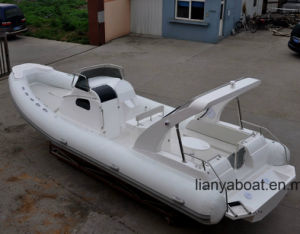 Liya 8.3m/27FT Military Fiberglass Hull Inflatable Cabin Rib Boat pictures & photos