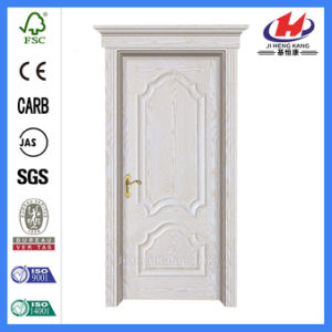 Solid Wood Interior Entrance Wooden White Door (Jhk-M02) pictures & photos
