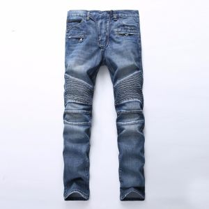Fashion Skinny Biker Jeans for Men Denim Ripped Men Jeans Thick Denim Biker Jeans pictures & photos