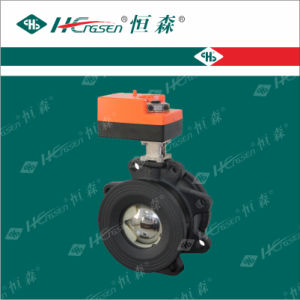 D Q F-L B Iron Motorized Flange Ball Valve with Actuator/Flange for Heating, Ventilation and Air-Conditioning System pictures & photos