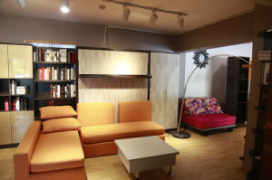 Vertical Tilting Wall Bed with Sofa and Boiserie Cabinet pictures & photos