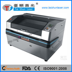 CCD Focus Dual Head Fabric Labels CO2 Laser Cutting Machine pictures & photos