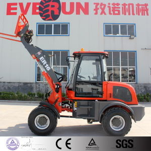 Er16 Mini Wheel Loader with Euroiii Engine/Adjustable Pallet Forks for Sale pictures & photos