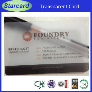 Frosted Transparent PVC Card pictures & photos