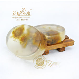 Chrysanthemum Plant Transparent Soap (oval shape)